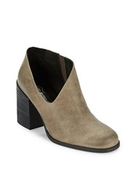 Free People Terrah Leather Ankle Booties Grey