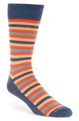 Men's Lorenzo Uomo Stripe Organic Cotton Blend Socks Grey 3 For 30 Charcoal