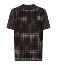 Lanvin Checked T Shirt Male Dark Grey
