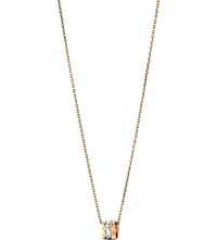 Georg Jensen Fusion 18Ct White Yellow And Rose Gold Diamond Pendant Necklace Yg Rg Wg
