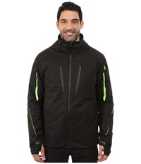 Obermeyer Charger Jacket Chainlink Emboss Men's Coat Black