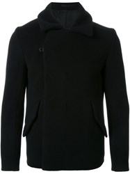 Kazuyuki Kumagai Short Double Breasted Coat Black