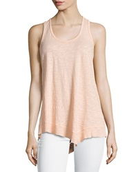 W By Wilt Mix Ribbed Racerback Asymmetric Tank Nectar