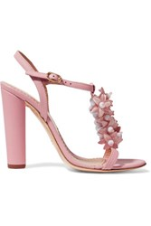 Red Valentino Redvalentino Embellished Leather Sandals Baby Pink