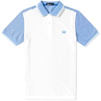 Fred Perry Colour Block Oxford Polo White