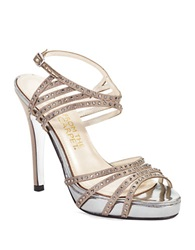Elive From The Red Carpet Betty Peep Toe Stilettos Fawn
