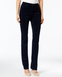 Charter Club Foulard Print Lexington Corduroy Straight Leg Pant Only At Macy's Intrepid Blue Combo