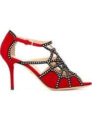 Charlotte Olympia 'Lotte' Sandals Red