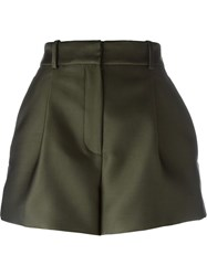 Versace Pleated Mini Shorts Green