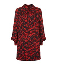 Mcq By Alexander Mcqueen Pin Tuck Patterned Shirt Dress Female Red