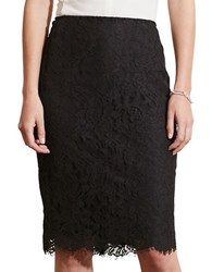 Lauren Ralph Lauren Petite Lace Pencil Skirt Black