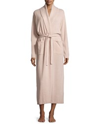 Neiman Marcus Cashmere Collection Cashmere Shawl Collar Long Sleeve Robe Women's