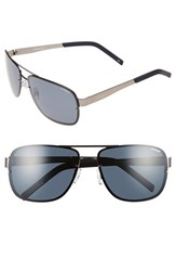 Men's Polaroid Eyewear 'Pld 2025 S' 63Mm Polarized Sunglasses Matte Ruthenium