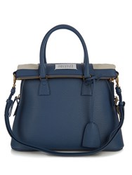 Maison Martin Margiela 5Ac Medium Grained Leather Tote Blue