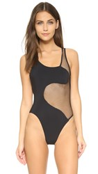 Blue Life Nightswim Sheer One Piece Black