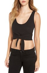 Women's Bp. Tie Front Crop Tank Black