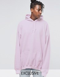 Reclaimed Vintage Super Oversized Hoodie In Overdye New Pink