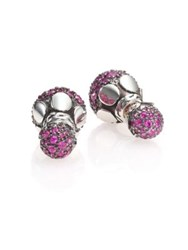 John Hardy Dot Pink Sapphire And Sterling Silver Stud Earrings