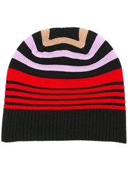Sonia Rykiel Striped Colour Block Beanie