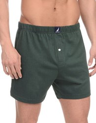 Nautica Patterned Knit Boxers Green