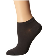 Wolford Sneaker Cotton Socks Anthracite Women's Crew Cut Socks Shoes Pewter