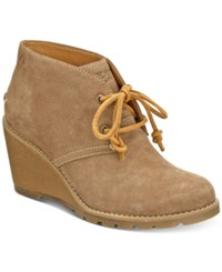 Sperry Women's Stella Prow Wedge Ankle Booties Women's Shoes Taupe