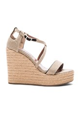 Tabitha Simmons Linen Jenny Wedges In Neutrals