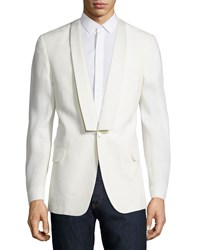 Red Valentino One Button Fitted Jacket White Men's