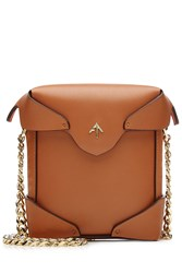 Manu Atelier Micro Pristine Leather Shoulder Bag Camel