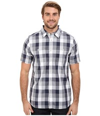 The North Face Short Sleeve Shadow Gingham Shirt Cosmic Blue Plaid Men's Short Sleeve Button Up Gray