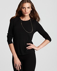 Eileen Fisher Petites' Silk Jersey Tee Black