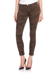 Hudson Lily Mid Rise Camo Print Skinny Ankle Jeans Multi