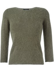 Roberto Collina Fitted Sweater Green