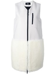 The Reracs Fur Trimmed Gilet White