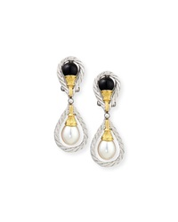 18K Gold Drop Earrings With Onyx And Pearls Buccellati