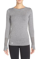 Alo Yoga Women's Alo 'North Star' Long Sleeve Top Charcoal Heather