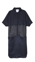 Tibi Fog Shirt Dress