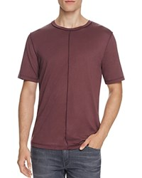 Blk Dnm Pima Cotton Tee Burgundy