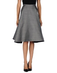 Unique Skirts 3 4 Length Skirts Women Grey
