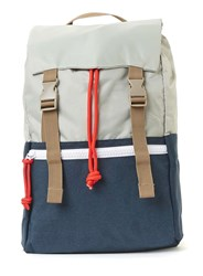Topman Blue And Light Grey Flat Top Backpack