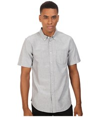Obey Dissent Trait Woven Short Sleeve Black Men's Clothing