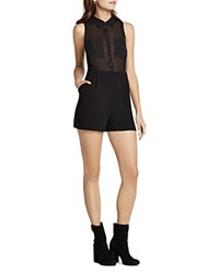 Bcbgeneration Sheer Bodice Romper Black