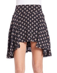 Free People Patterned Skater Skirt