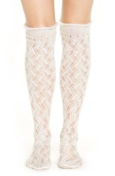 Lemon Women's 'Frosted Swirl' Over The Knee Socks Polar