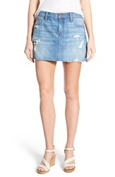Women's Lucky Brand Distressed Denim Miniskirt