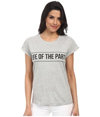 Minkpink Life Of The Party Tee Gray Mar Women's T Shirt