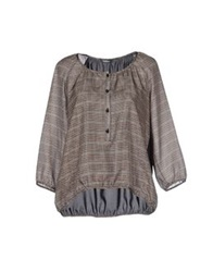 Pianurastudio Blouses Brown