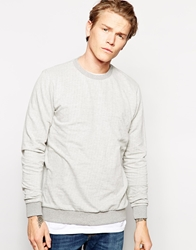 Dansk Sweatshirt With Fine Stripe White
