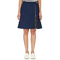 Harvey Faircloth Women's Pique A Line Skirt Blue
