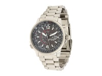 Citizen Bj7000 52E Eco Drive Nighthawk Stainless Steel Watch Silver Band Silver Case Black Dial Watches